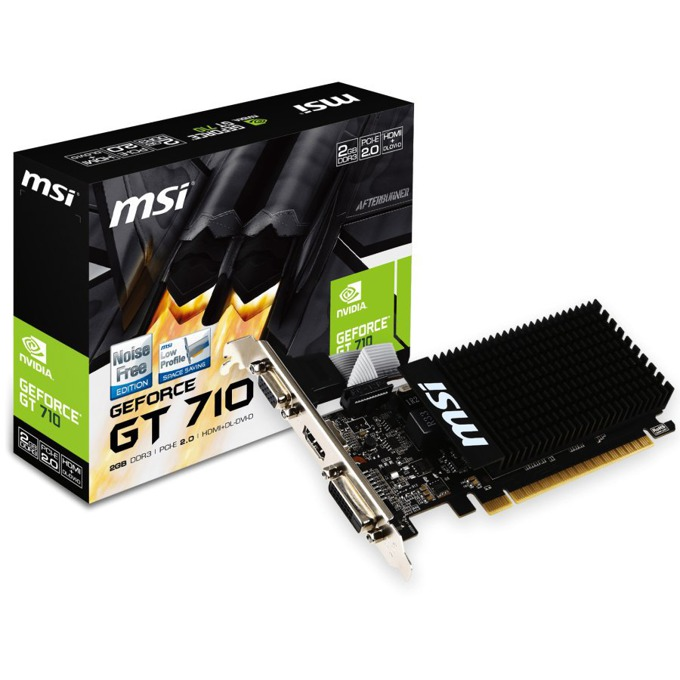 Видео карта Nvidia GeForce GT 710, 2GB, MSI, PCI-E2.0, DDR3, 64bit, HDMI, DVI image