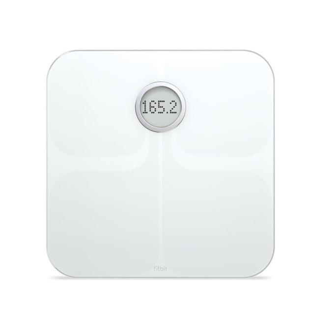 Цифров кантар Fitbit Aria 2, Bluetooth, Wi-Fi, водоустойчив, капацитет 180 кг, LCD дисплей, бял image