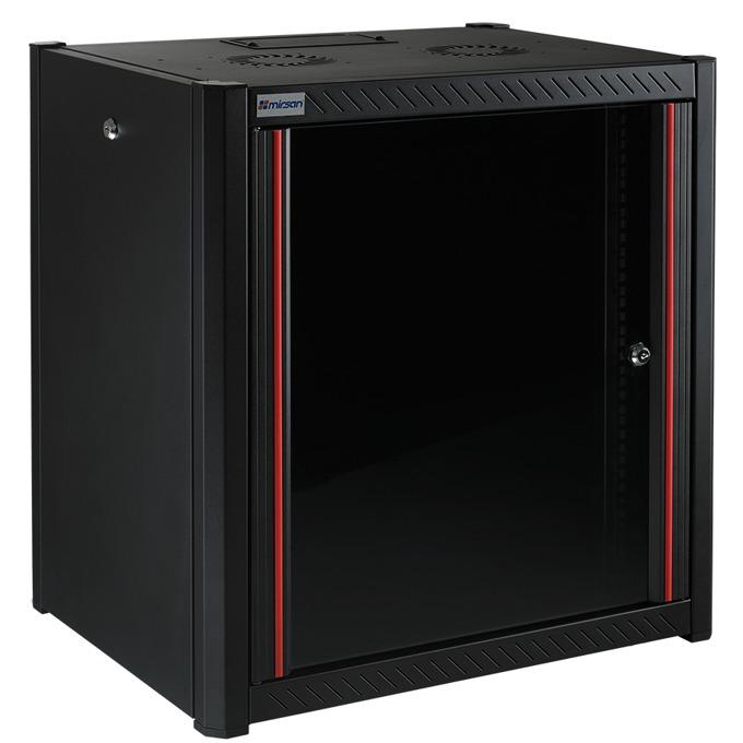 """Комуникационен шкаф Mirsan MR.WTN09U45.01, 19"""", 9U, 450mm, черен, за стена image"""