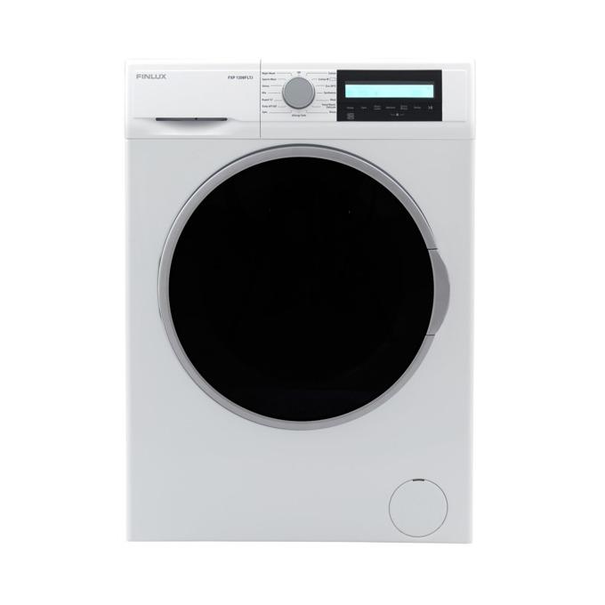 Перална машина Finlux FXP 1208FLTJ TWIN JET, клас A+++, 8 кг. капацитет, 1200 оборота в минута, 15 програми, свободностояща, 60 cm. ширина, таймер за отложен старт, бяла image