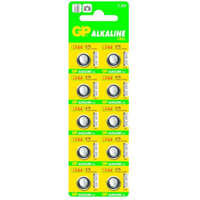 Батерия алкална GP LR44, 1.5V, 10 бр. опаковка, цена за 1 бр.  image