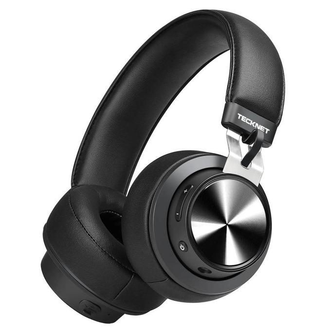 Слушалки Tecknet BH10922, безжични (Bluetooth 4.0), микрофон, контрол на звука, 3.5mm жак, черни image