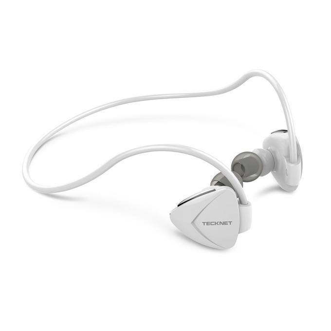 "Слушалки TeckNet G939, Bluetooth, микрофон, тип ""тапи"", бели image"