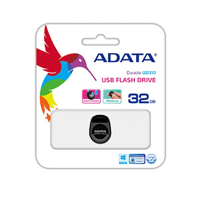 32GB USB Flash Drive, A-Data DashDrive UD310, USB 2.0, червена image