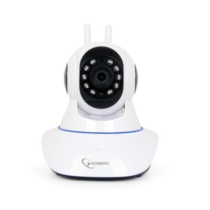 IP камера Gembird ICAM-WRHD-01, преносима, 1 Mpix(1280×720@30FPS), 3.6mm обектив, H.264/MJPEG, IR осветеност, вътрешна, Wi-Fi, 1x RJ-45, microSD слот image