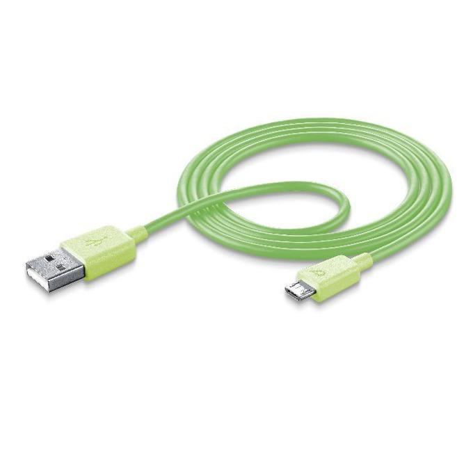 Кабел Cellular Line Samsung, USB 2.0 A(M) към USB micro (M) 1m, зелен image