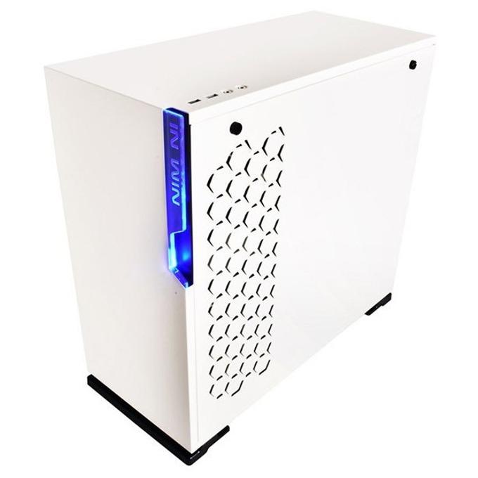 Кутия In Win 101 White, ATX/Micro-ATX/Mini-ITX, 2x USB 3.0, бяла, с прозорец, без захранване image
