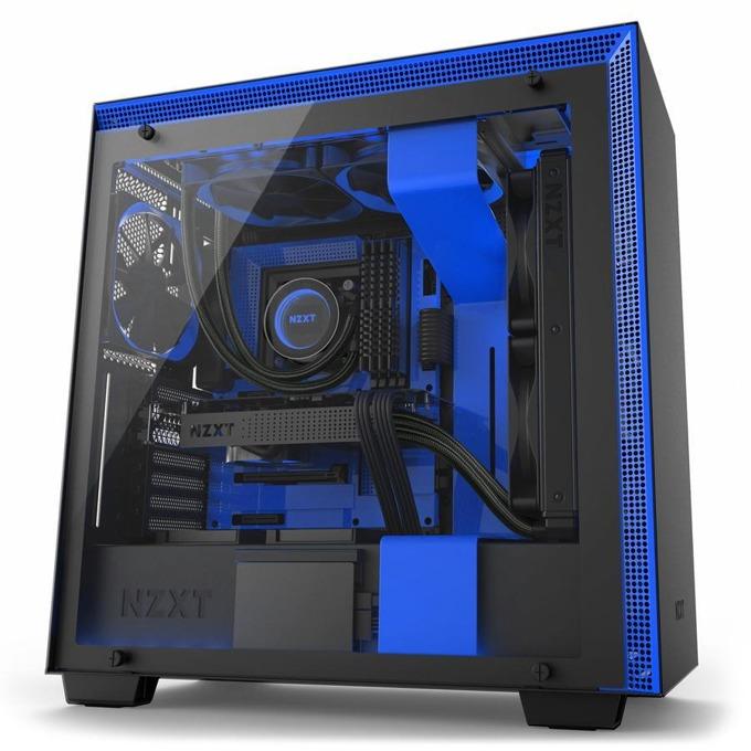 Кутия NZXT H700i, EATX/ATX/mATX/miniITX, 2 x USB 3.1 Gen 1, 2 x USB 2.0, с прозорец, синя, без захранване image