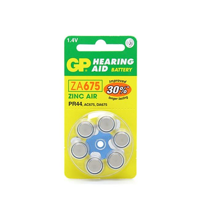 Батерия цинкова GP Hearing Aid ZA675, 1.4V, 6 бр. в опаковка, цена за 1бр. image