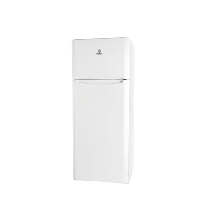 Хладилник с фризер Indesit TIAA10(1), клас А+, 252 л. общ обем, свободностоящ, 250 kWh/годишно, 3 стъклени рафта, автоматично размръзяване, бял image
