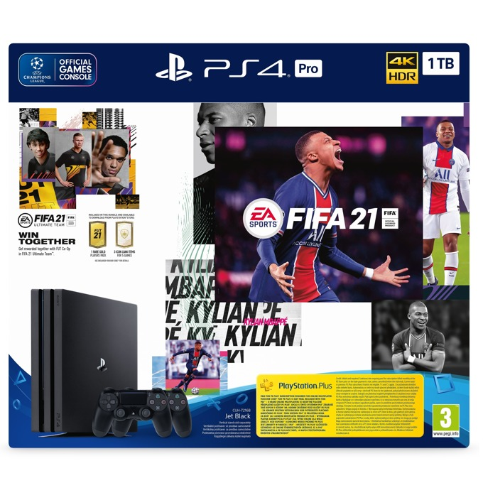 PS4 Pro 1TB + DS 4 + FIFA 21 product
