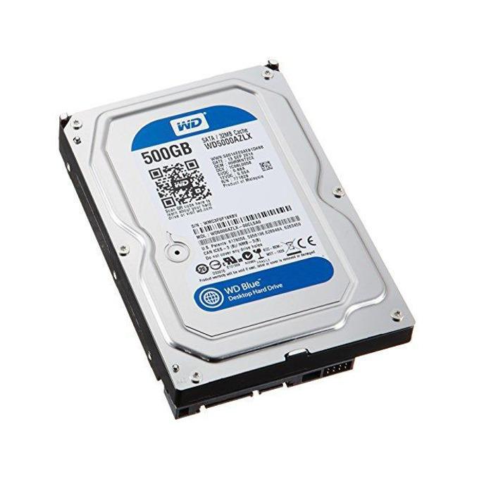 """Твърд диск 500GB WD Blue (WD5000AZLX), SATA 6Gb/s, 7200rpm, 32MB, 3.5""""(8.89 cm) image"""