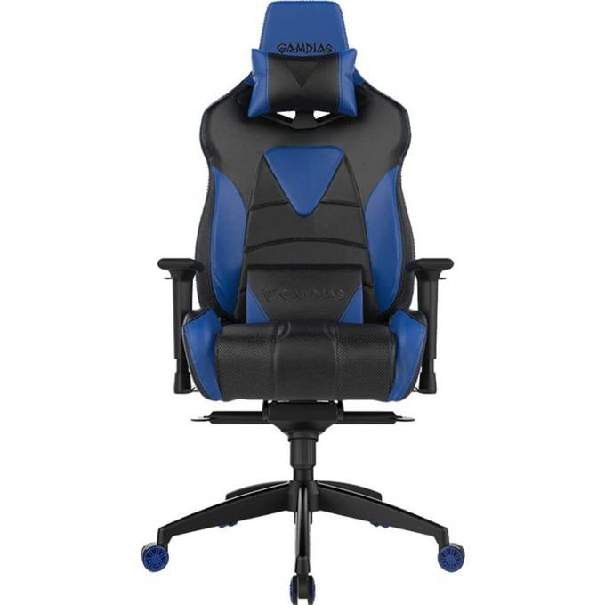 Геймърски стол INAZA GAMDIAS Achilles M1, черен/син image