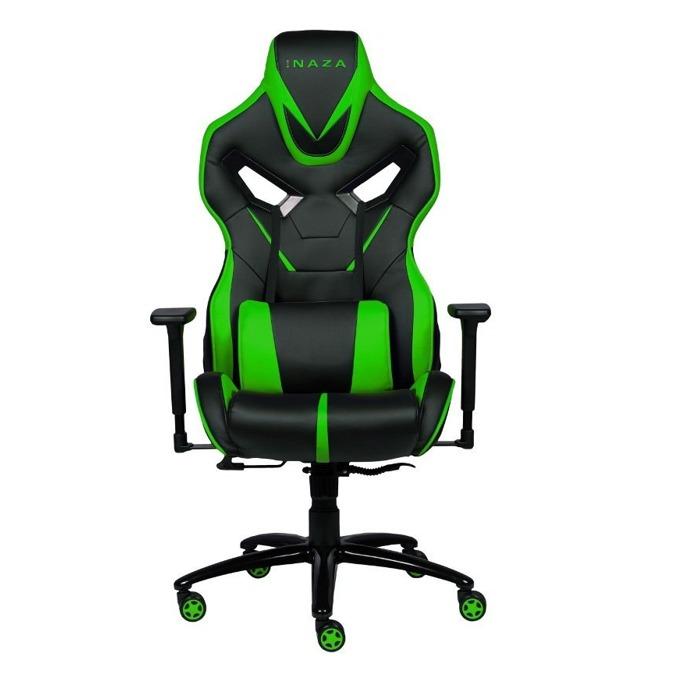 Геймърски стол INAZA Avenger, черен/зелен image