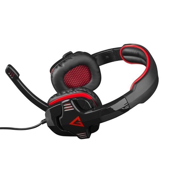 Слушалки Modecom Volcano Alien MC-829, микрофон, гейминг, бързи бутони, червени image