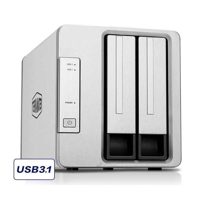 "TerraMaster D2-310 DAS Storage, без твърд диск (2x 2.5""/3.5"" SATA/SSD), 1x USB 3.1 Type C image"