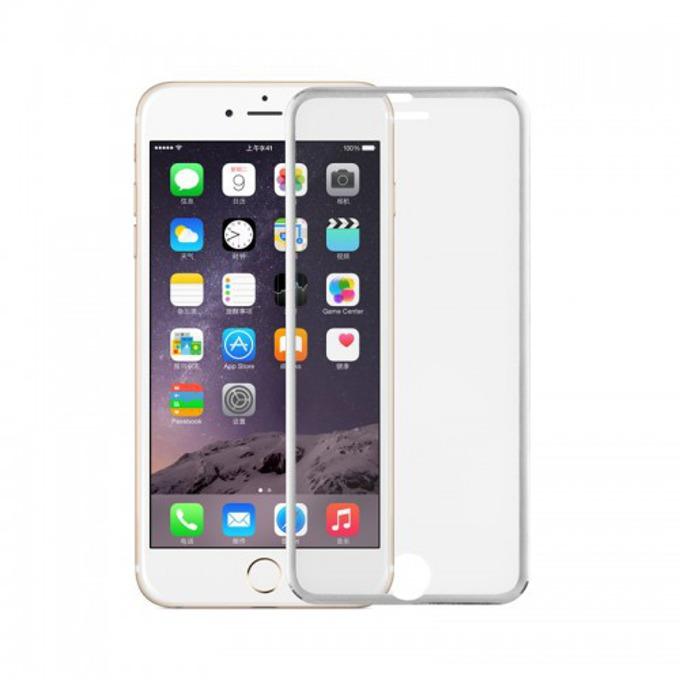 Протектор от закалено стъкло /Tempered Glass/ DeTech за Apple iPhone 6/6S, бял image
