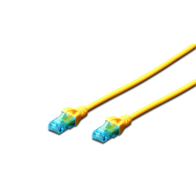 Пач кабел Digitus, UTP, Cat.5e, 3m, жълт image