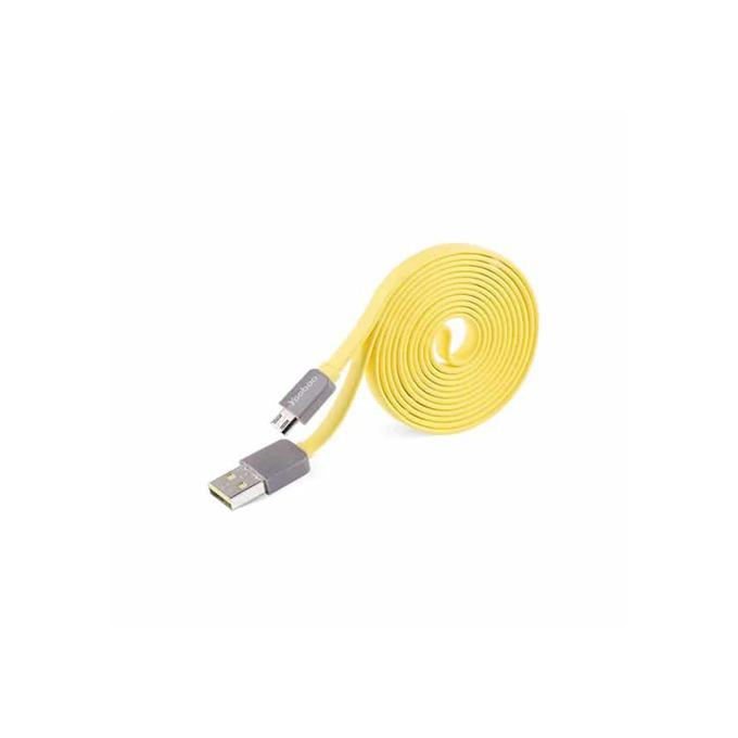 Кабел Yoobao от USB 2.0 A(м) към USB micro B (м), 0.8m, жълт image