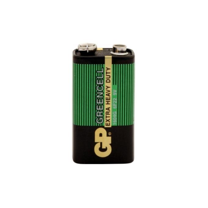 Батерия цинкова GP Greencell 6F22, 9V, 1 бр.  image