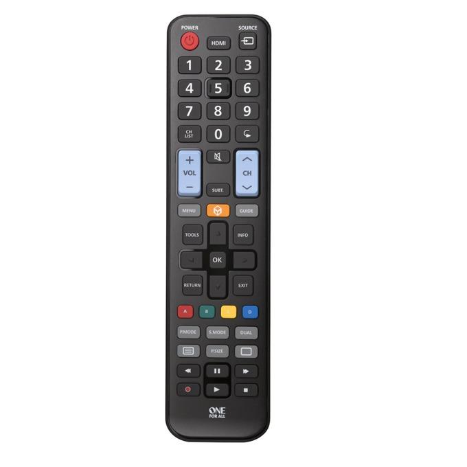 Дистанционно One For All URC1910, съвместимо с всички Samsung телевизори, Светещи копчет, Поддържа български език, Learning функция, 90g image