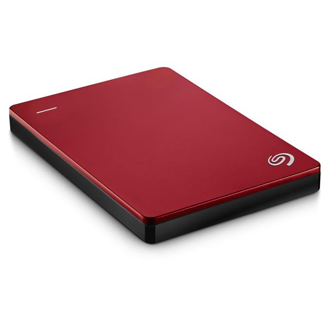 """Твърд диск 1TB Seagate Backup Plus Slim (червен), външен, 2.5"""" (6.35 cm), USB3.0 image"""