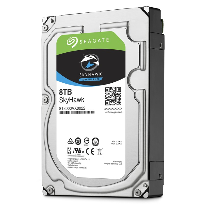 """Твърд диск 8TB Seagate SkyHawk ST8000VX0022, SATA 6Gb/s, 256MB, 3.5""""(8.89 cm) image"""