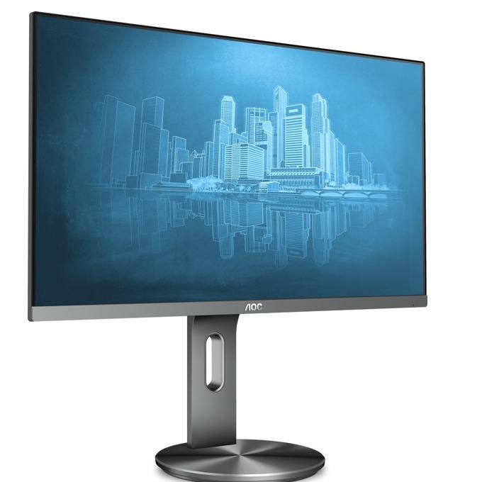 """Монитор AOC I2790PQU/BT, 27""""(68.58 cm), IPS LED панел, Full HD, 100000000 :1, 250 cd/m2, HDMI, DisplayPort, VGA, сив image"""