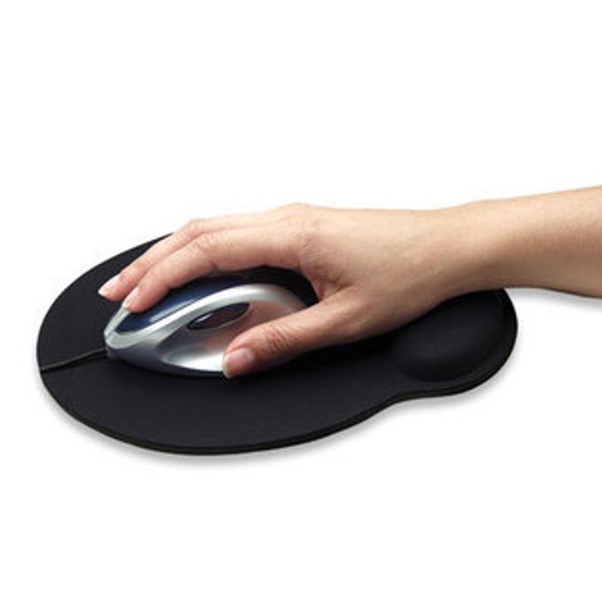 Подложка за мишка MANHATTAN Wrist rest, черна, 24.1 x 20.3 x 0.4 cm image