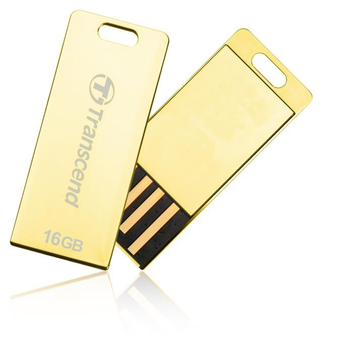 16GB USB Flash Drive, Transcend JetFlash T3G, 2.0, златиста image
