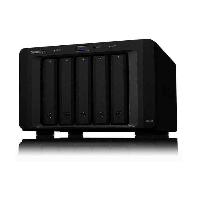"""Разширителен блок Synology Expansion Unit DX517, 5x bay 2.5""""/3.5"""" SATA HDD/SSD, 1x eSATA, съвместим с DS1817+/DS1517+/DS918+/DS718+/DS1817/DS1517/NVR1218 image"""