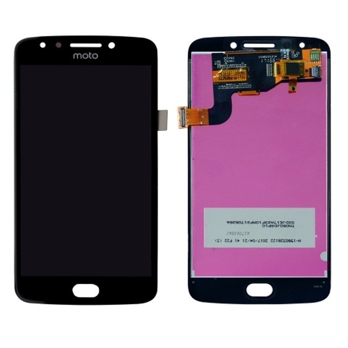 Дисплей за Motorola Moto E4, LCD, с тъч, черен image