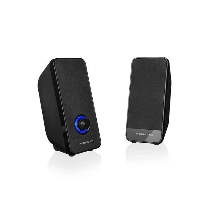 Тонколони Modecom MC-XS6, 2.0, 8W RMS(4W + 4W), USB,3.5 мм жак, черни, 150-20000 Hz image