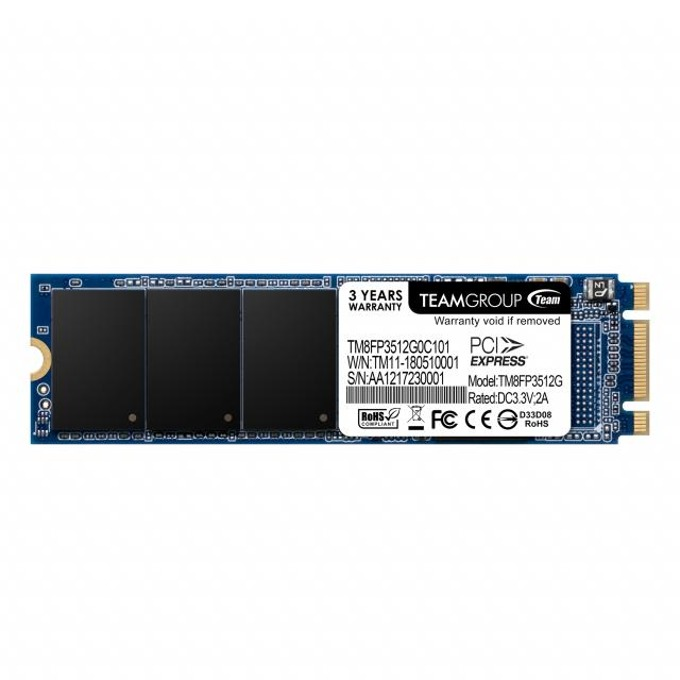 SSD 512GB Team Group MP32, PCI-e 3.0 x2 NVMe, M.2 (2280), скорост на четене 1500MB/s, скорост на запис 850MB/s image