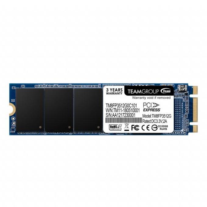 SSD 512GB Team Group MP32, PCI-e 3.0 x2 NVMe, M.2 (2280), скорост на четене 1500MB/s, скорост на запис 850MB/s image