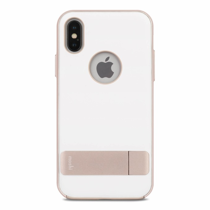 Калъф за Apple iPhone XS, хибриден, Moshi Kameleon 99MO101032, удароустойчив, с поставка, бял image