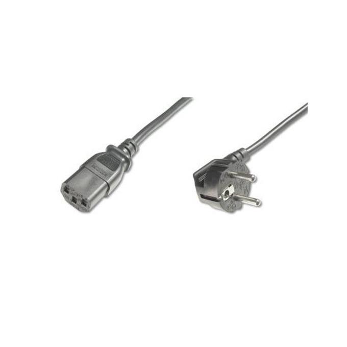 Захранващ кабел Assmann, AK-440100-050-S, от Schuko към IEC (C13)(ж), 5.0m, черен image