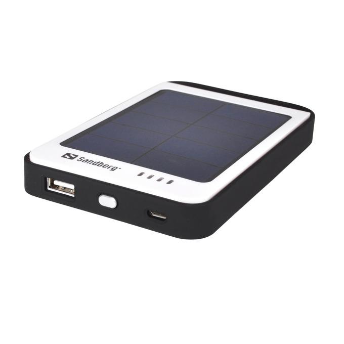 Външна батерия/power bank/ Sandberg Solar 420-15, слънчеви панели, 6000 mAh, бяло/черна image