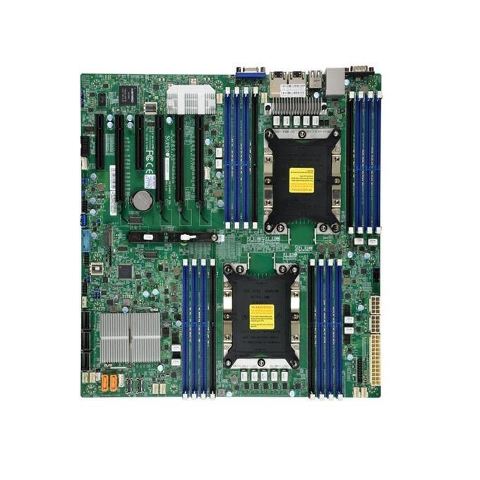 Дънна платка за сървър Supermicro X11DPI-NT, C622, 2x LGA-3647 (Socket P), 16x 2933MT RDIMM/LRDIMM/LRDIMM, 14x SATA 6G, RAID 0/1/5/10, 4x USB 2.0, E-ATX, Bulk image