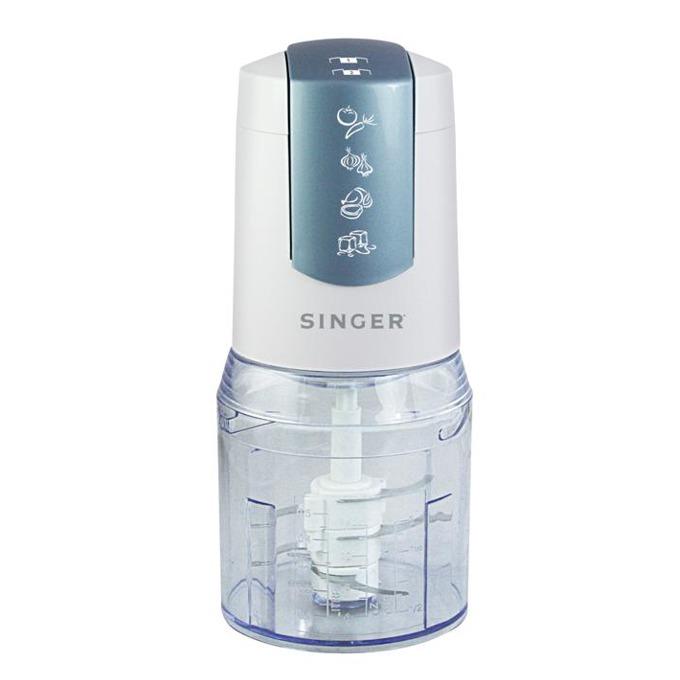 Чопър Singer Multi 400, 2 скорости, купа с вместимост 0.5л, Съд подходящ за съдомиялна, 400W, бял image