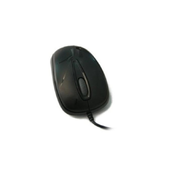 Мишка Delux M107, оптична (1000 dpi), USB, черна  image