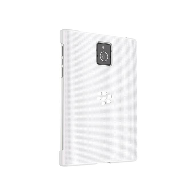Калъф за Blackberry Passport, страничен протектор с гръб, поликарбонатов, Blackberry Hard Shell, бял image