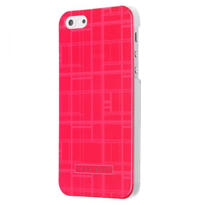 Заден капак HUGO BOSS Catwalk Hardcover за iPhone 5/5S, луксозен, розов image