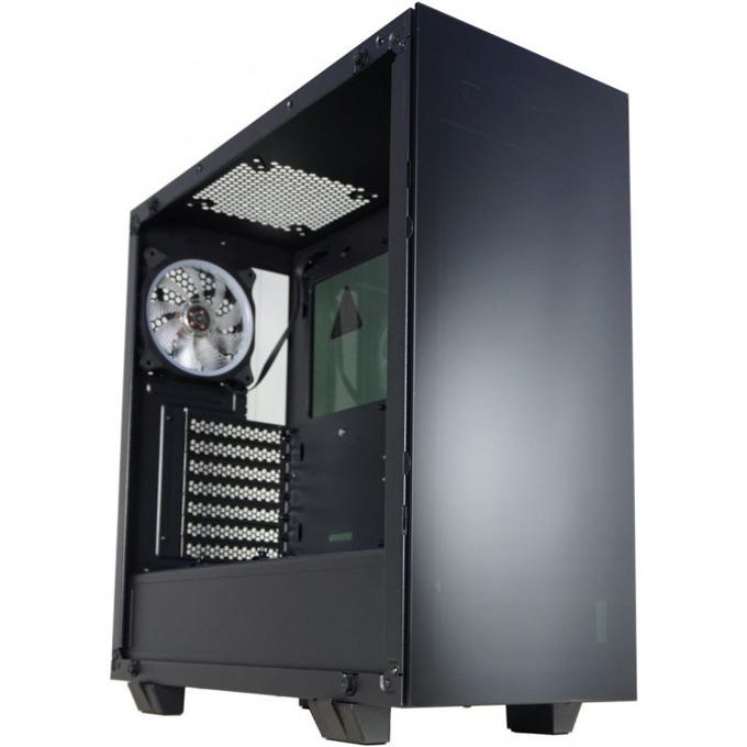 Кутия Inaza AM5 Drone Mid, ATX/Micro ATX, 2x USB 3.0, прозрачен капак, черна, без захранване image