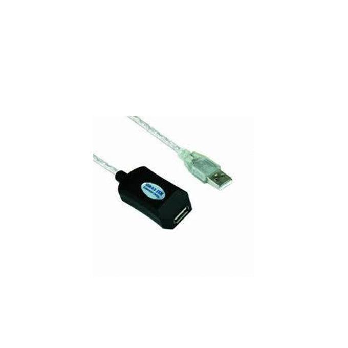 Кабел VCOM CU823-10m, USB A(м) към USB А(ж), 10m, бял image