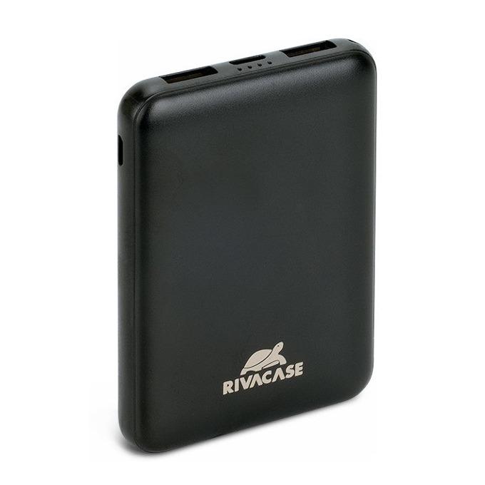 Bъншна батерия /power bank/ Rivacase VA2405, 5000 mAh, 1x USB Type C, 2x USB A, черна image