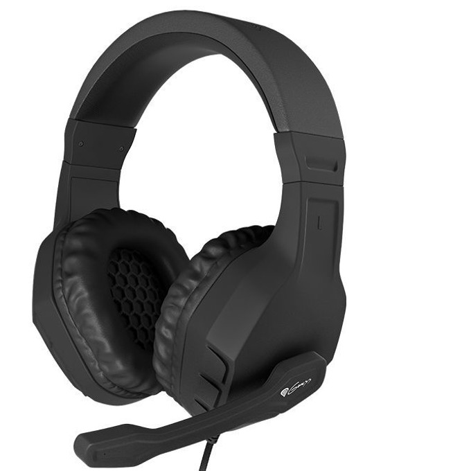 Слушалки Natec Genesis Argon 200 Argon, микрофон, геймърски, черни  image