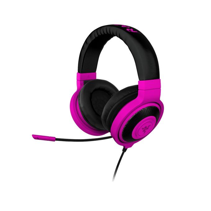 Слушалки Razer Kraken Pro Neon, микрофон , лилави image