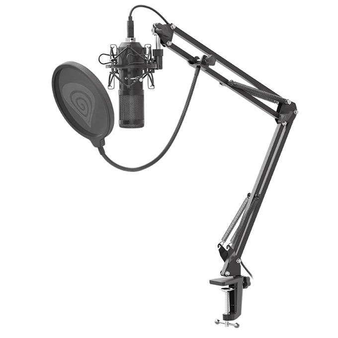 Микрофон Genesis Radium 400, pop филтър, 2.5 м. кабел, гейминг, червен image
