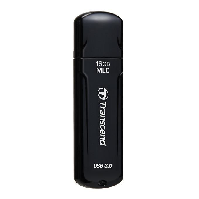 16GB USB Flash Drive, Transcend JetFlash 750, USB 3.0, черна image